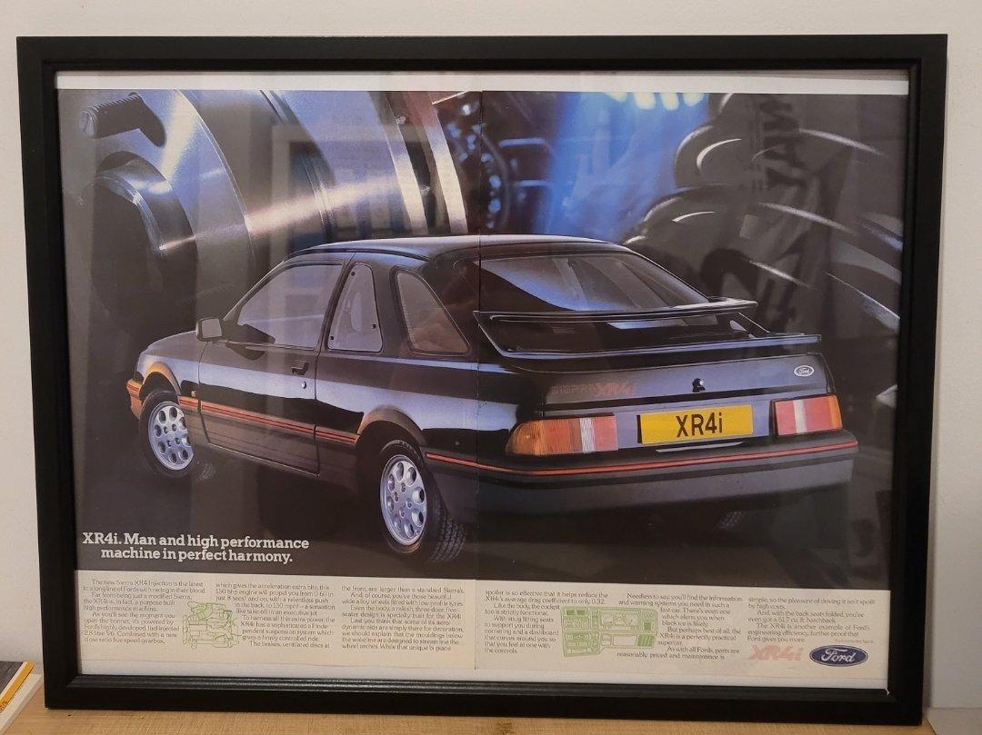 Picture of 1970 Original 1983 Ford Sierra XR4i Framed Advert