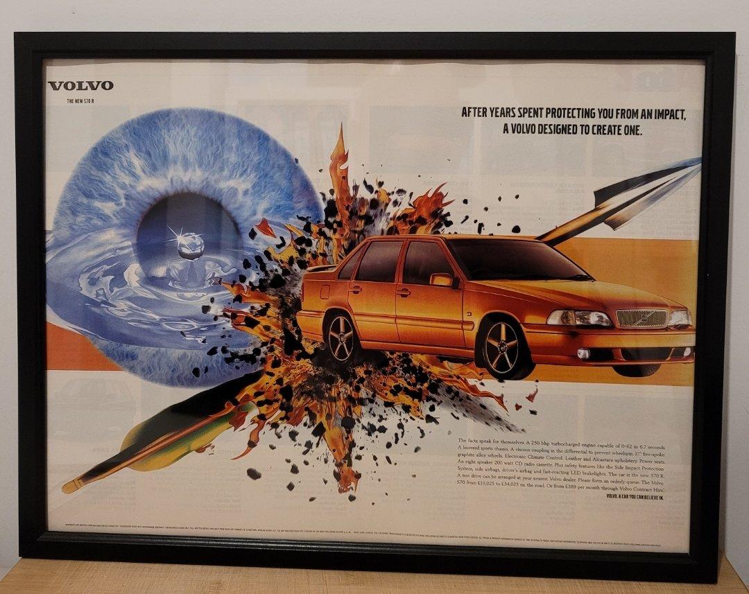 Original 1997 Volvo S70R Framed Advert