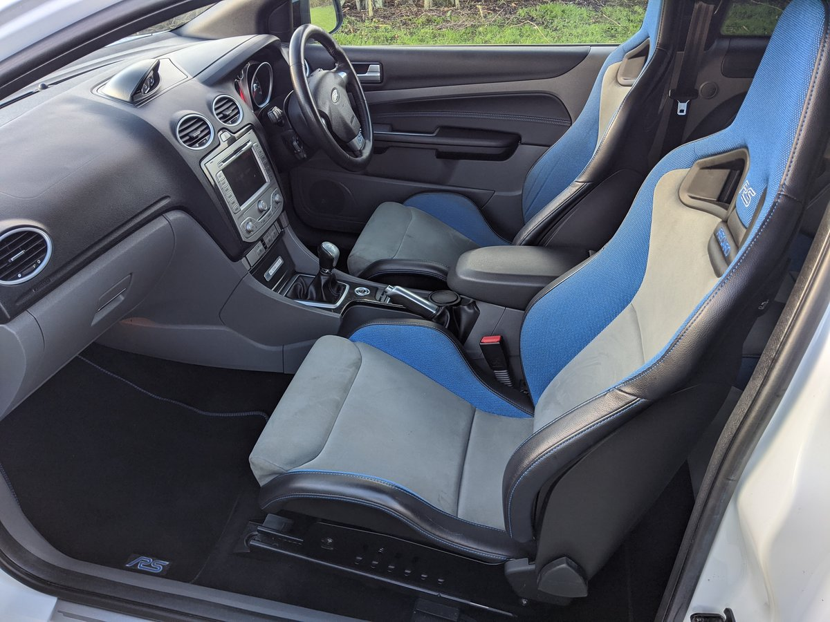2009 Focus RS Frozen White LUX 1&2 Recaro For Sale (picture 5 of 9)