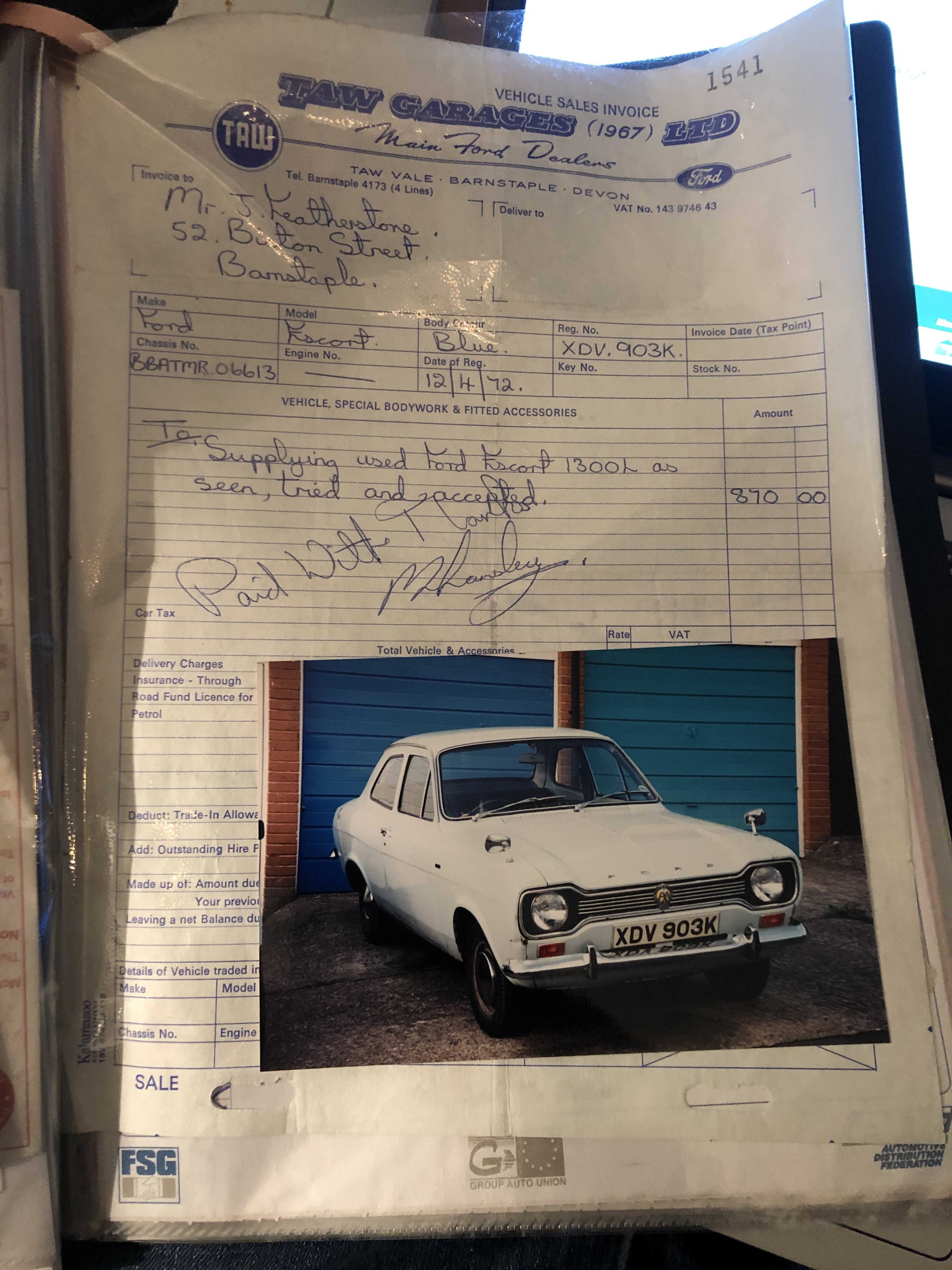 1972 Ford Escort MK1 RS1600 For Sale (picture 5 of 6)
