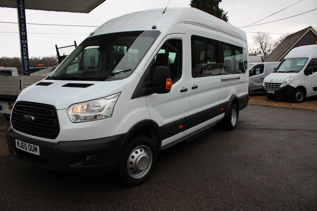 2015 65 FORD TRANSIT 2.2 460 HR BUS 18 SEATS For Sale (picture 1 of 12)