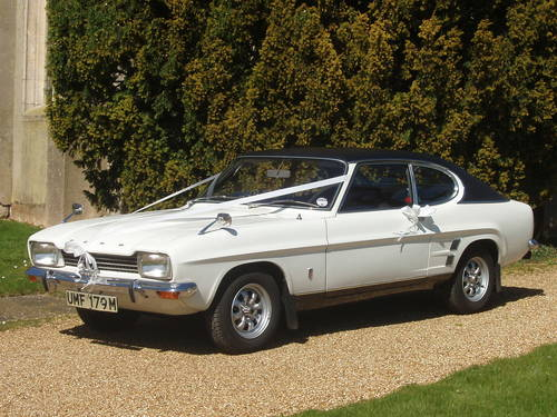 1973 Ford Capri XL MK1 wedding car For Hire (picture 1 of 2)