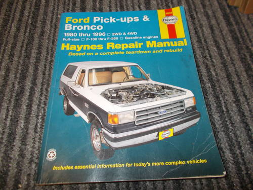 0000 ford pick up and bronco haynes manual For Sale (picture 1 of 2)