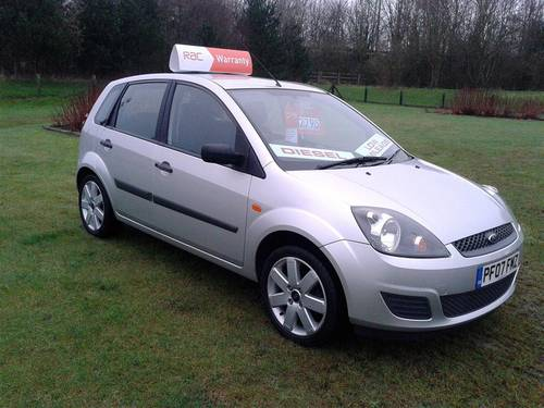 2007 Ford Fiesta 1.4 Tdci 5 Door Silver In Very good Condition! For Sale (picture 5 of 6)