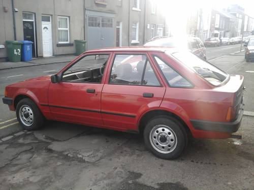 1983 A FORD ESCORT , 1.1L , 5 DOOR MK 3,   For Sale (picture 2 of 4)