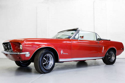 Classic LHD 1968 Ford Mustang 5.0 GT V8 Red Convertible Amer For Sale (picture 6 of 6)