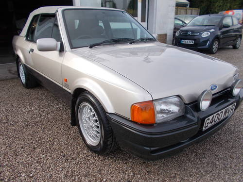 1990 Ford escort xr3i cabriolet 1 owner,low miles For Sale (picture 2 of 5)
