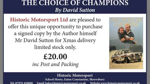 1996 THE CHOICE OF CHAMPIONS BY DAVID SUTTON For Sale (picture 1 of 1)