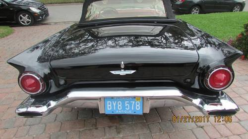 1957 Ford Thunderbird Convertible For Sale (picture 4 of 6)