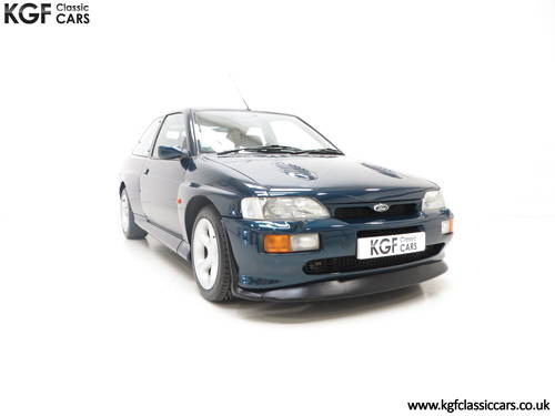 1996 A Ford Escort RS Cosworth Lux Edition in Rare Petrol Blue SOLD (picture 1 of 6)
