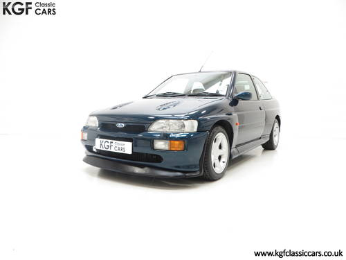 1996 A Ford Escort RS Cosworth Lux Edition in Rare Petrol Blue SOLD (picture 2 of 6)