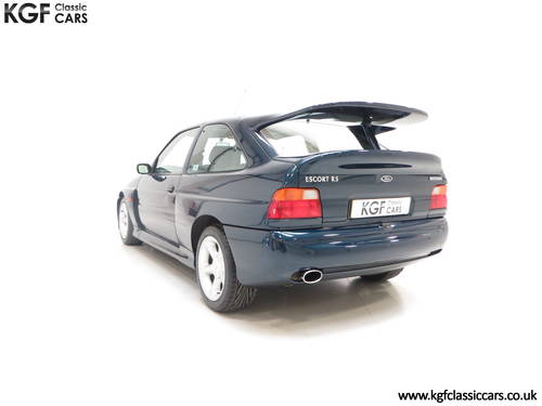 1996 A Ford Escort RS Cosworth Lux Edition in Rare Petrol Blue SOLD (picture 4 of 6)