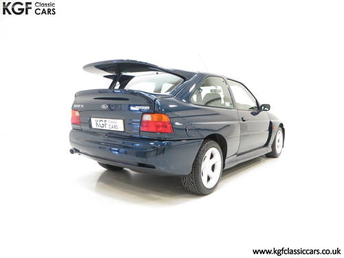 1996 A Ford Escort RS Cosworth Lux Edition in Rare Petrol Blue SOLD (picture 5 of 6)