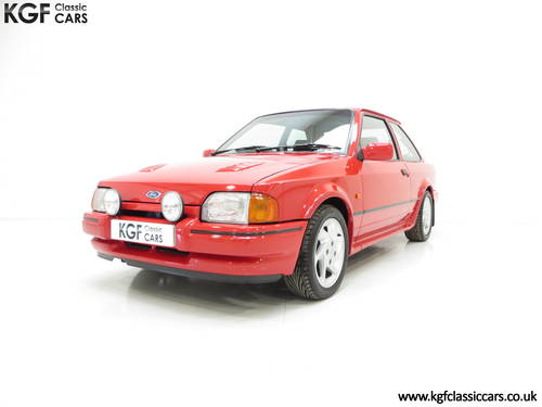 1987 A Very Early Ford Escort RS Turbo Series 2 with 60897 Miles SOLD (picture 2 of 6)