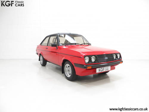 1980 A Factory Perfect Ford Escort Mk2 RS2000 Custom, 27187 Miles SOLD (picture 1 of 6)