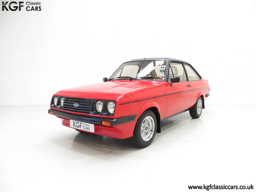 1980 A Factory Perfect Ford Escort Mk2 RS2000 Custom, 27187 Miles SOLD (picture 2 of 6)