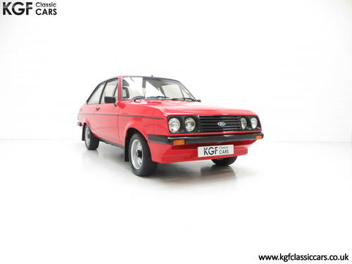 1980 A Ford Escort Mk2 RS2000 Base, One Registered Owner from New SOLD (picture 1 of 6)