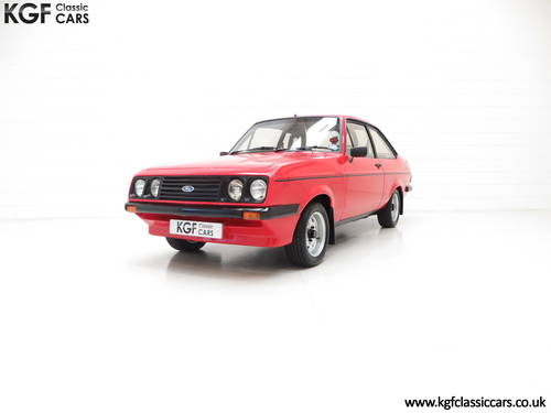 1980 A Ford Escort Mk2 RS2000 Base, One Registered Owner from New SOLD (picture 2 of 6)