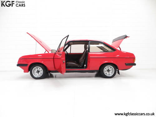 1980 A Ford Escort Mk2 RS2000 Base, One Registered Owner from New SOLD (picture 3 of 6)