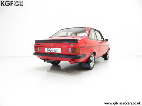 1980 A Ford Escort Mk2 RS2000 Base, One Registered Owner from New SOLD (picture 5 of 6)
