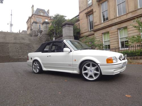 1989 F Ford Escort XR3i Cabriolet Manual Tennis Edition For Sale (picture 1 of 6)