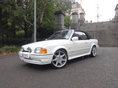 1989 F Ford Escort XR3i Cabriolet Manual Tennis Edition For Sale (picture 4 of 6)