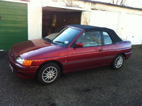 1991 Ford Escort Cabriolet only 83,000 miles For Sale (picture 1 of 1)