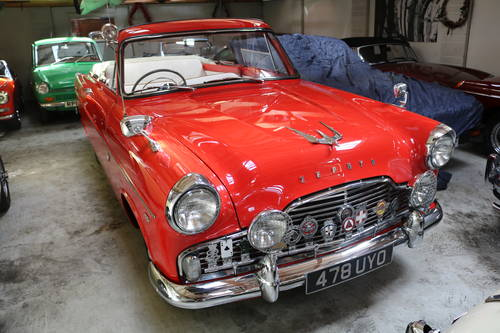 1958 FORD ZEPHYR MK II CONVERTIBLE   75,000 MILES ONLY SOLD (picture 1 of 6)