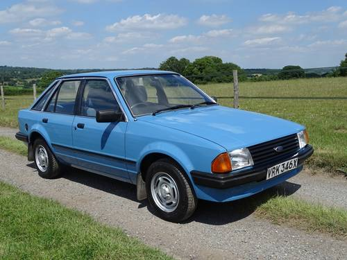 1982 Escort 1.3GL Mk3,genuine 29000 miles,one owner until 2015. SOLD (picture 1 of 6)