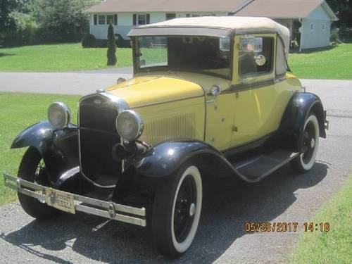 1931 Ford Model A Sport Coupe For Sale (picture 1 of 6)