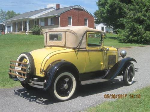 1931 Ford Model A Sport Coupe For Sale (picture 3 of 6)
