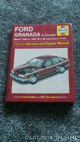1985 granada mk3  workshop manual For Sale (picture 1 of 3)