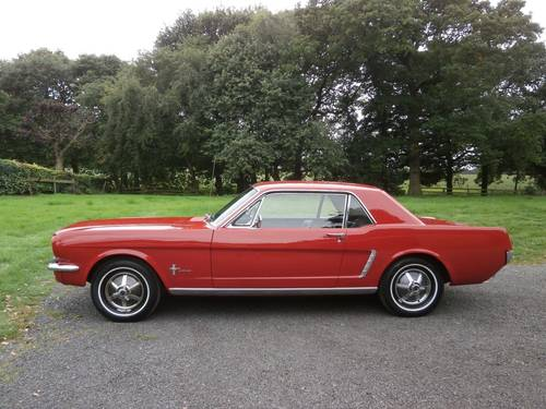 1964 1/2 FORD MUSTANG COUPE POPPY RED SIMPLY STUNNING!! SOLD (picture 5 of 6)