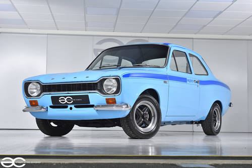 1972 MK1 Ford Escort Mexico - Olympic Blue with Dark Blue Stripes SOLD (picture 2 of 6)