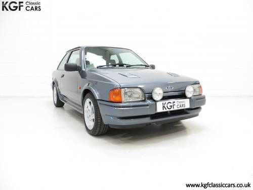 1987 A Collectors Ford Escort RS Turbo Series 2 with One Owner SOLD (picture 1 of 6)