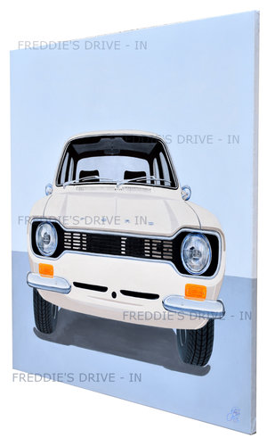 1971 Escort Mk1 _Mexico - Original Painting On Stretched Canvas For Sale (picture 2 of 4)
