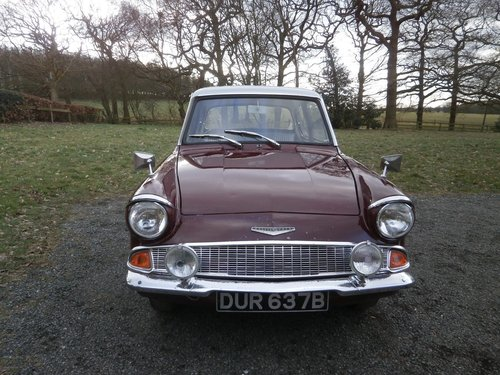 1964 FORD ANGLIA 123E SUPER MAROON/GREY JUST 25K UNRESTORED! SOLD (picture 2 of 6)