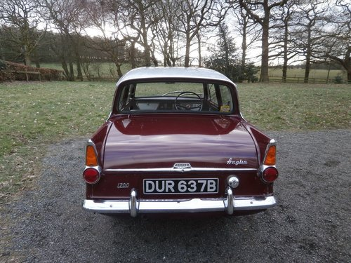 1964 FORD ANGLIA 123E SUPER MAROON/GREY JUST 25K UNRESTORED! SOLD (picture 3 of 6)