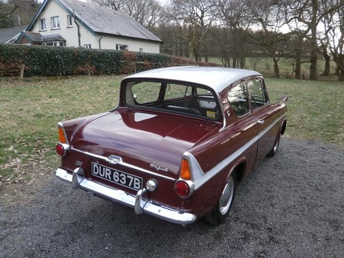 1964 FORD ANGLIA 123E SUPER MAROON/GREY JUST 25K UNRESTORED! SOLD (picture 4 of 6)