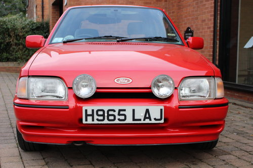 1990 Ford Escort XR3i  One owner - 7850 miles from new SOLD (picture 1 of 6)