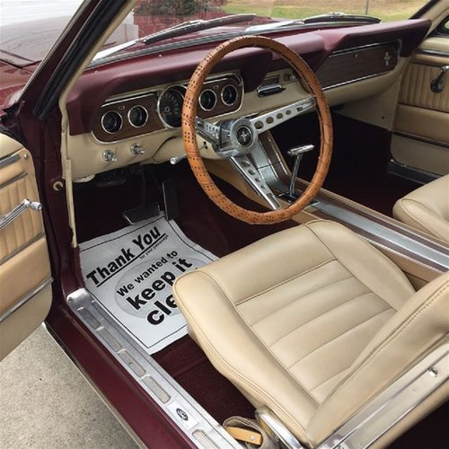 1966 Ford Mustang Coupe * Burgundy For Sale (picture 4 of 6)
