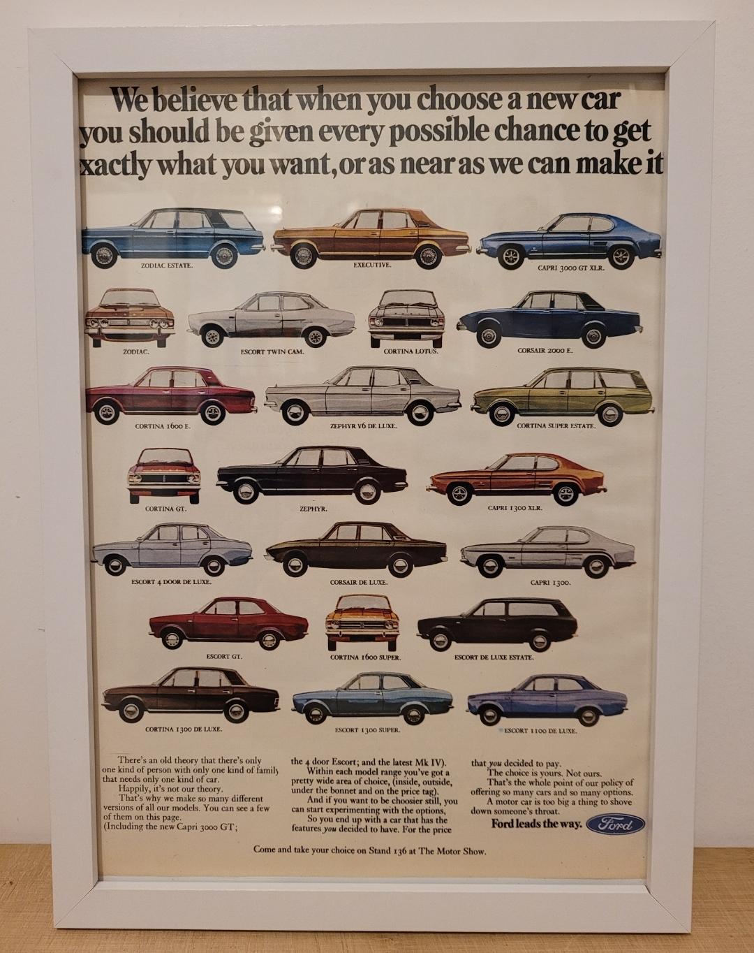 Original 1969 Ford Range Framed