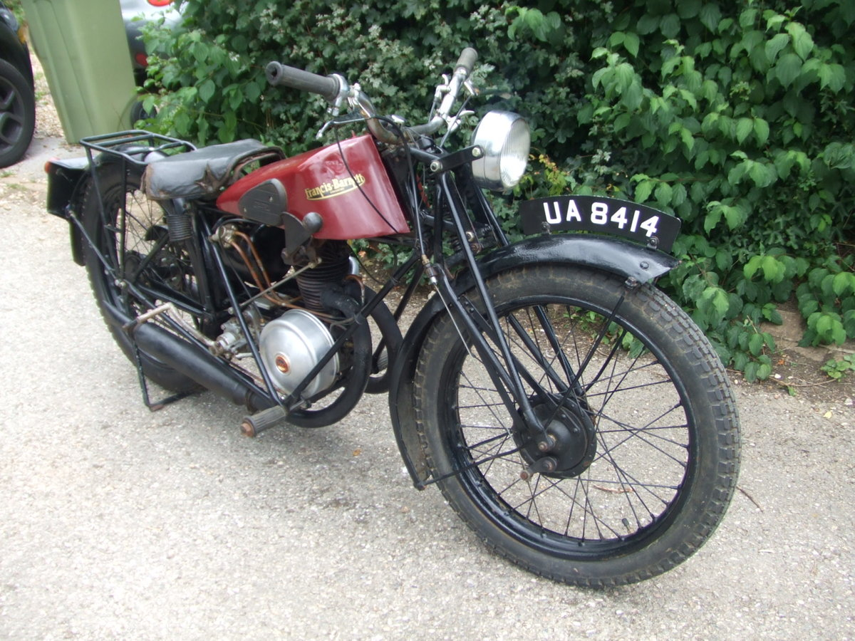 1929 Francis Barnett Model 9 (Villiers 172cc). For Sale (picture 3 of 6)