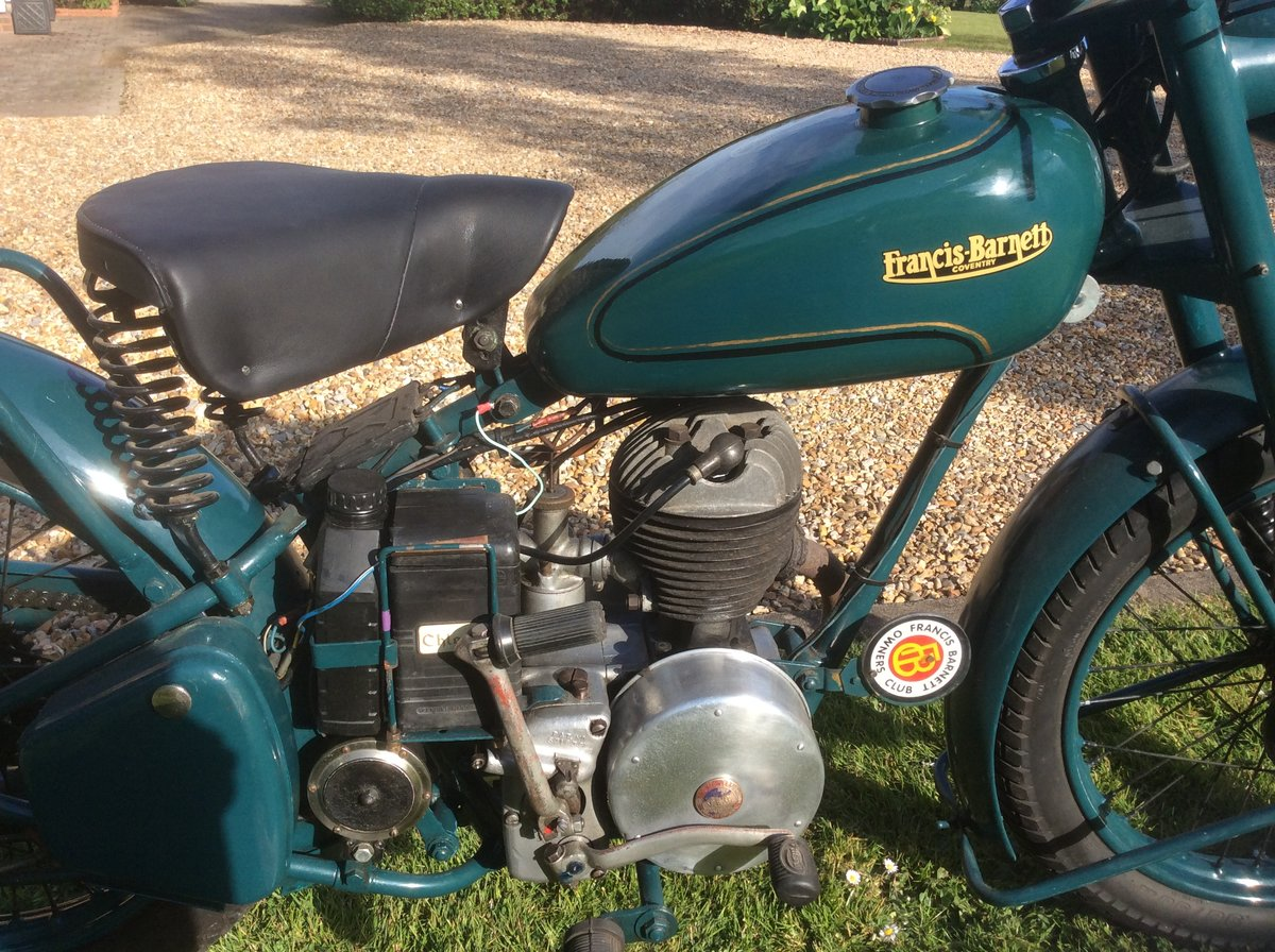 1951 Francis Barnett Falcon 55 197cc Villiers Engine For Sale (picture 5 of 6)