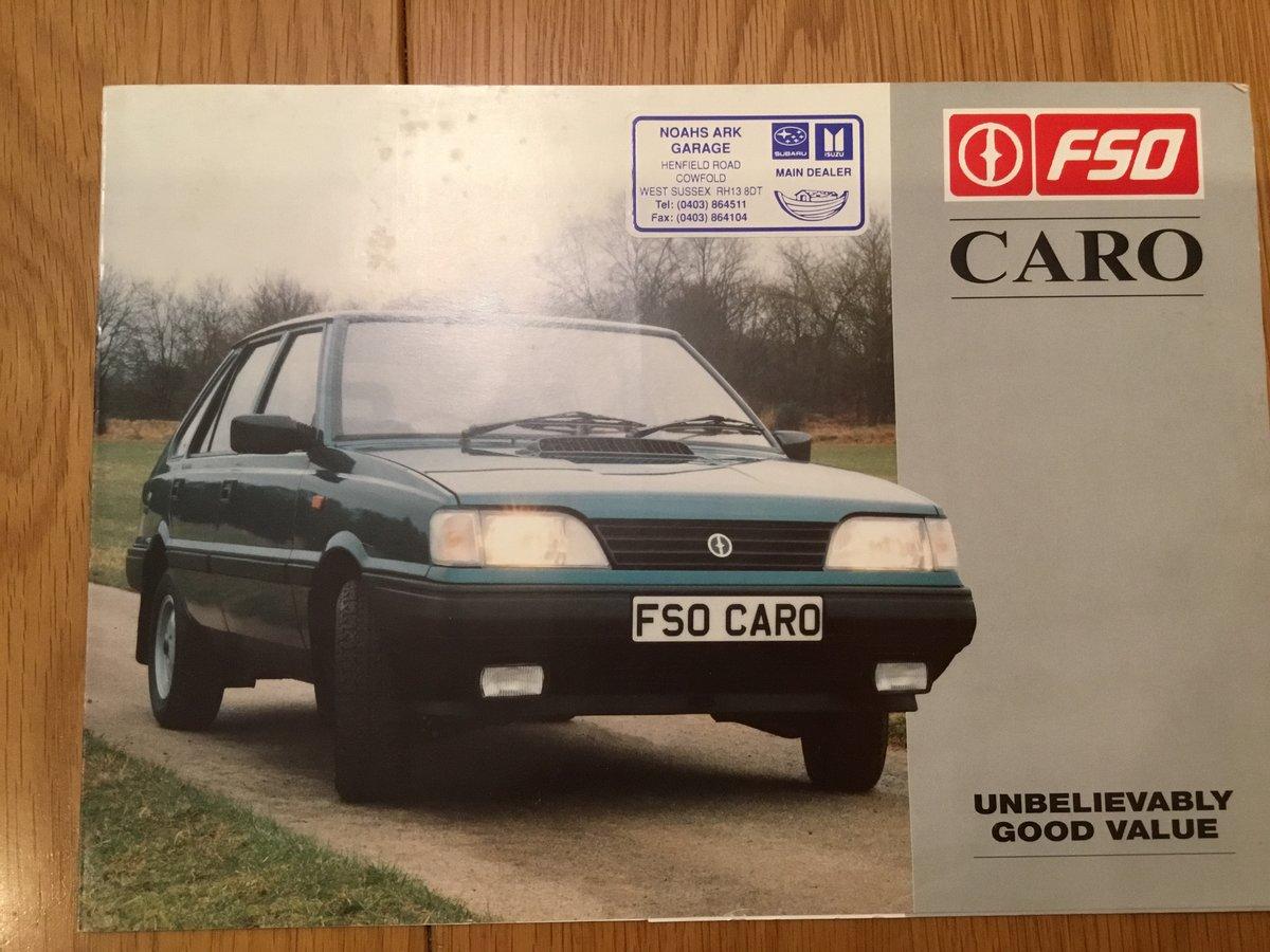 1990 FSO Caro brochure For Sale (picture 1 of 1)