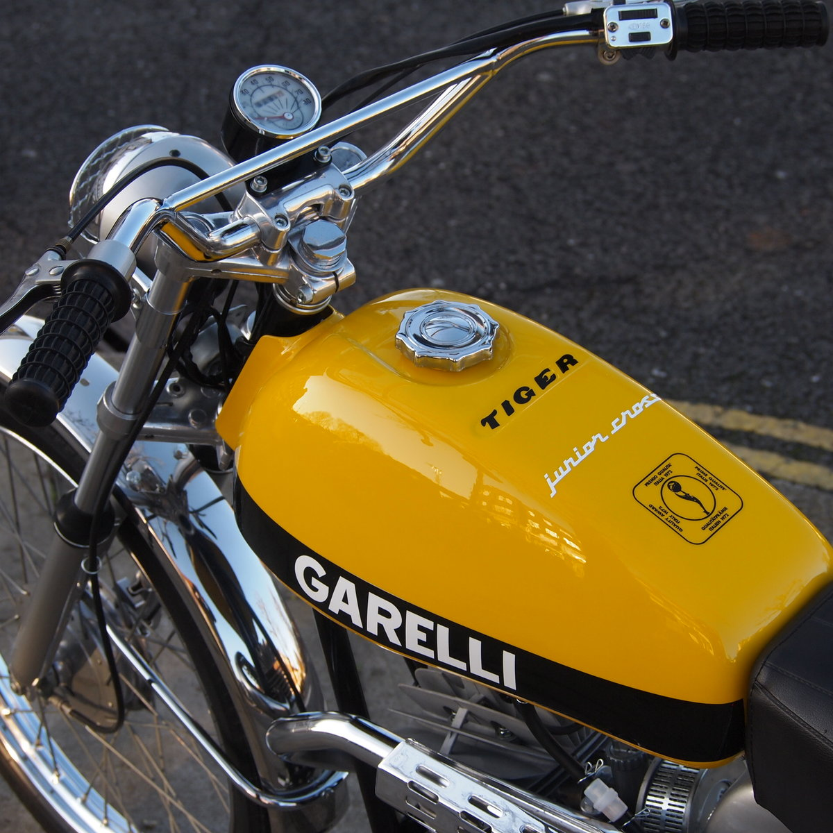 1975 Rare Radial Cylinder Head Garelli Tiger Cross With Pedals SOLD (picture 2 of 6)