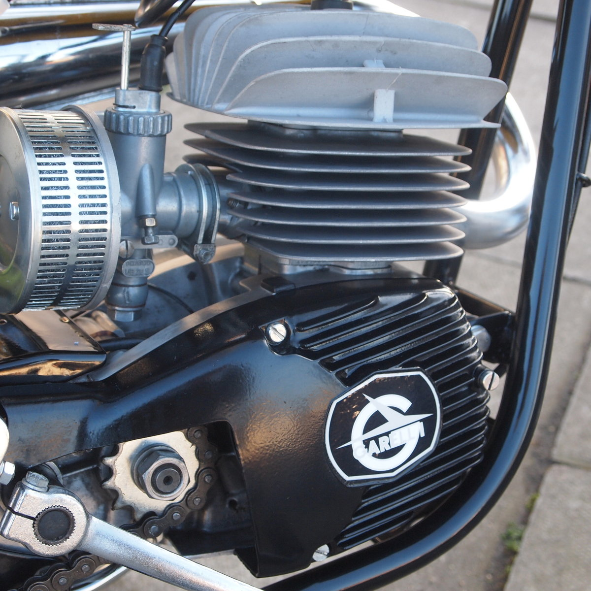 1975 Rare Radial Cylinder Head Garelli Tiger Cross With Pedals SOLD (picture 4 of 6)