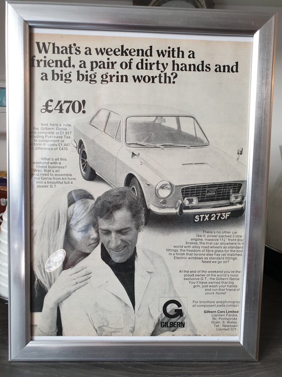 1968 Gilbern Genie Advert Original For Sale | Car And Classic