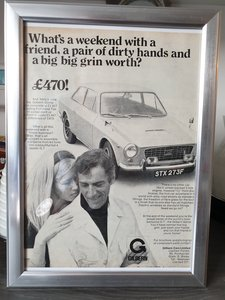 Original 1968 Gilbern Genie Framed Advert