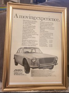 1972 Original Gilbern Invader Framed Advert